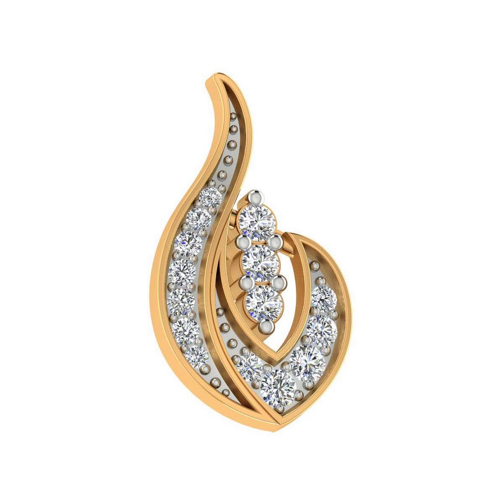 0.28Ct Certified Real Diamond 14k Yellow Gold Jewelry Stud Earring Gift Included