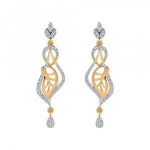 0.75Ct Certified Real Diamond 14k Yellow Hallmarked Gold Drop Dangle Earring