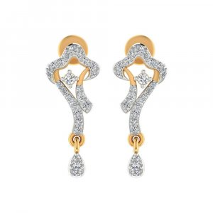 14k Yellow Gold 0.30Ct Certified IJ/SI Diamond Drop Dangle Earring Free Giftable