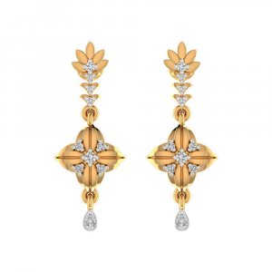 0.23 Ct Certified IJ/SI Diamond 14k Yellow Gold Jewelry Drop Earring Giftable