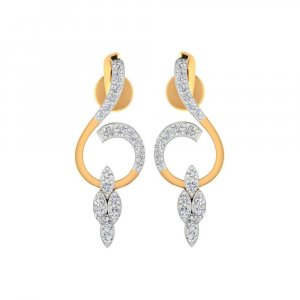14k Yellow Hallmarked Gold 0.31 Cts Certified 100% Genuine Diamond Drop Earring