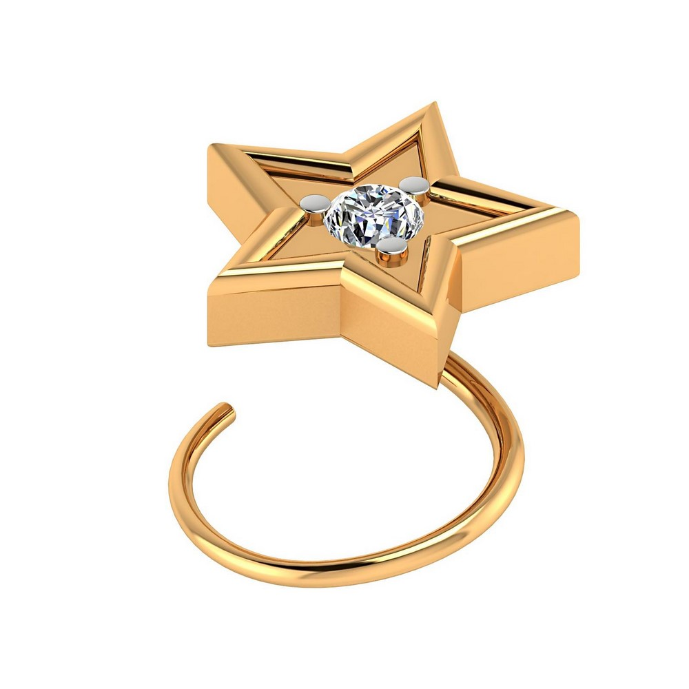 Certified Diamond 10kt White Or Yellow Gold Nose Ring Jewelry Fine Jewelry Fine Pins & Brooches