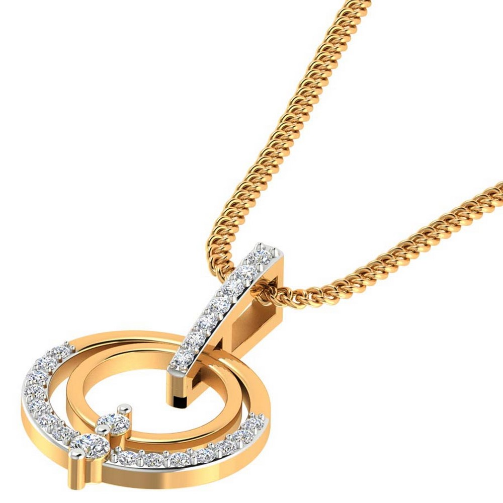 0.15 Ct Certified Natural Diamond 14k Yellow Gold Halo Designer Pendant Giftable