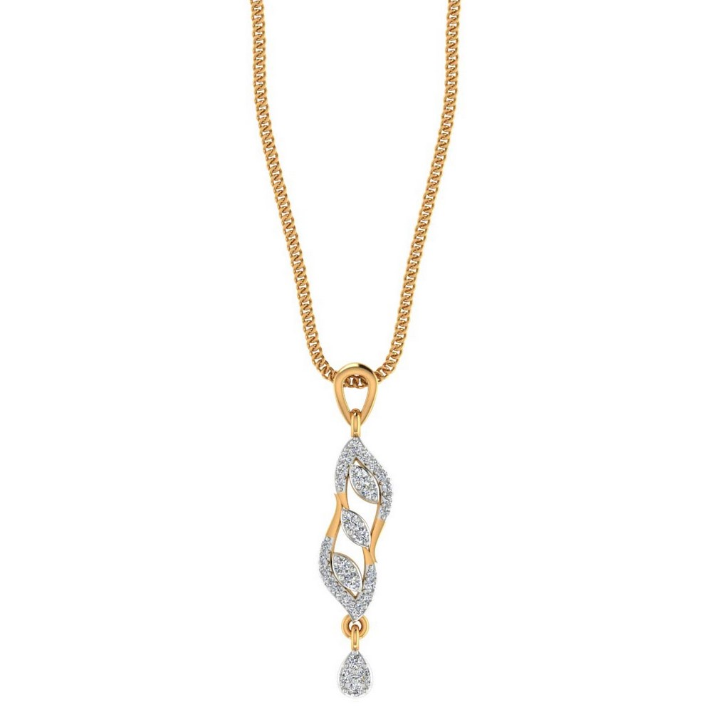 14k Solid Gold 0.21 Cts Certified 100% Genuine Diamond Lovely Pendant