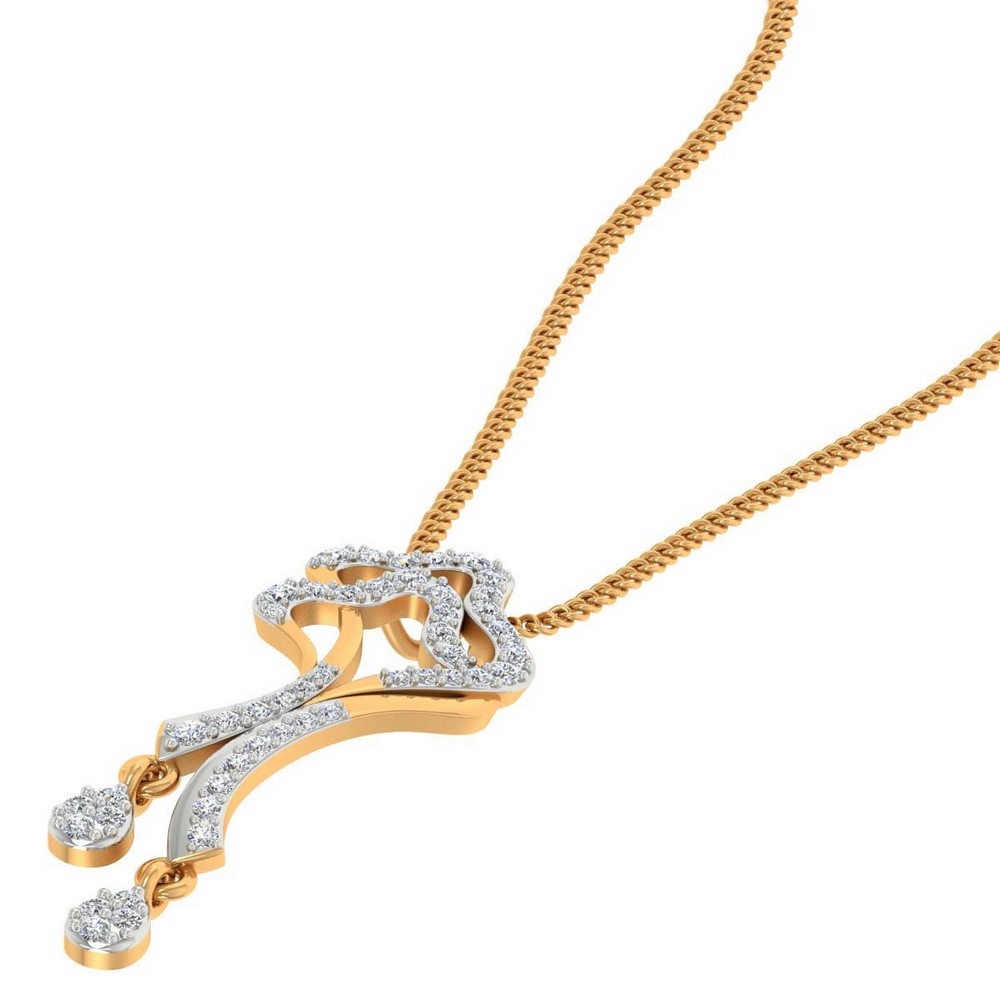 14k Solid Gold 0.35 Cts Certified 100% Genuine Diamond Lovely Pendant