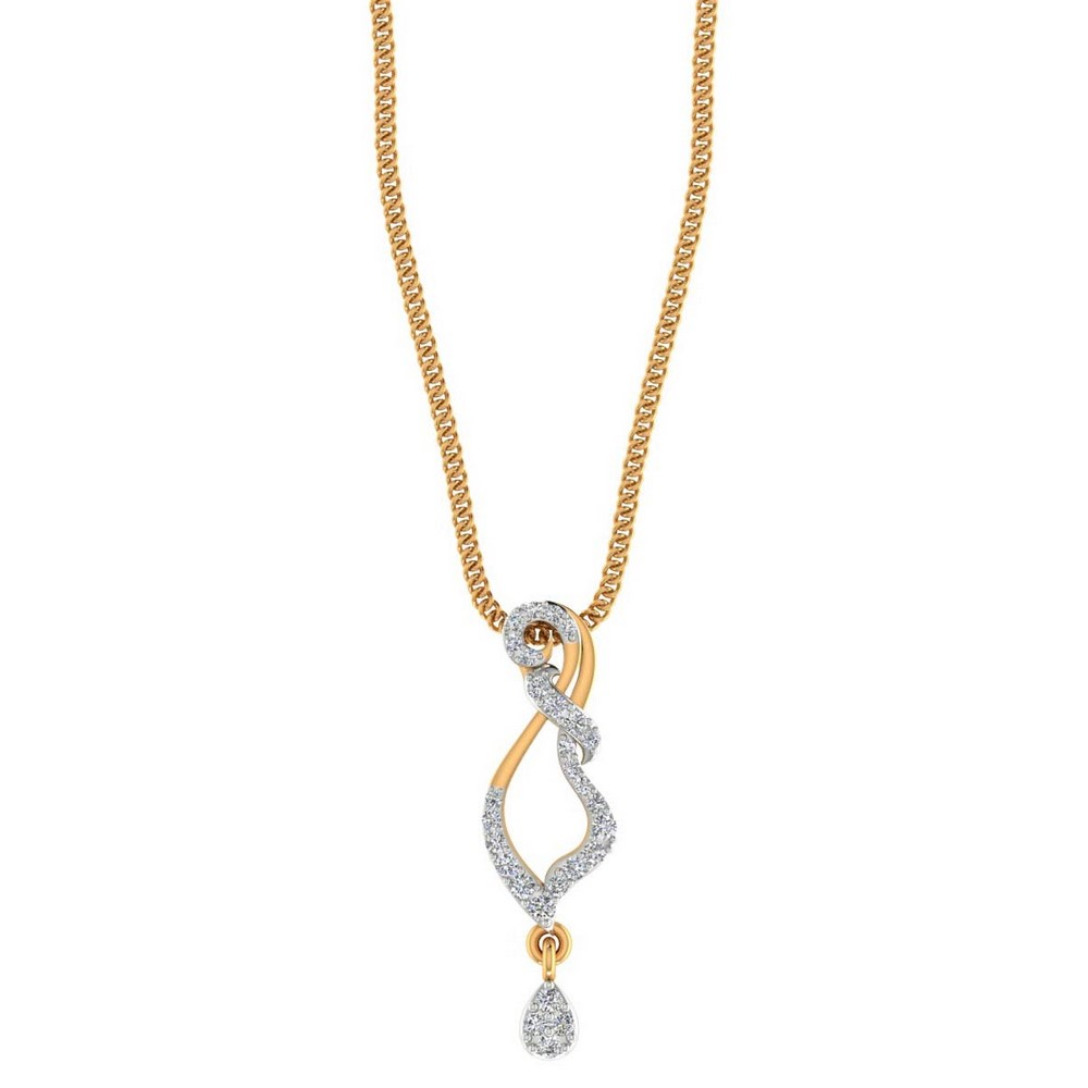 14k Hallmark Gold 0.19 Cts Natural Certified Diamond Pendant Giftable