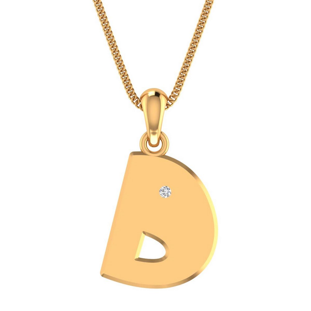0.02Ct Certified 100% Genuine Diamond 14k Real Gold Unisex Pendant