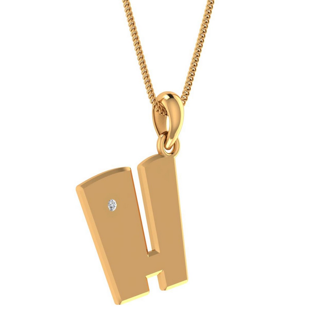 0.02Ct Certified Diamond 14k Solid Gold Unisex Pendant Brithday Gift