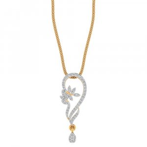 Handmade 14K Yellow Gold Pendant With 0.31CTS Certified Diamond For Weeding