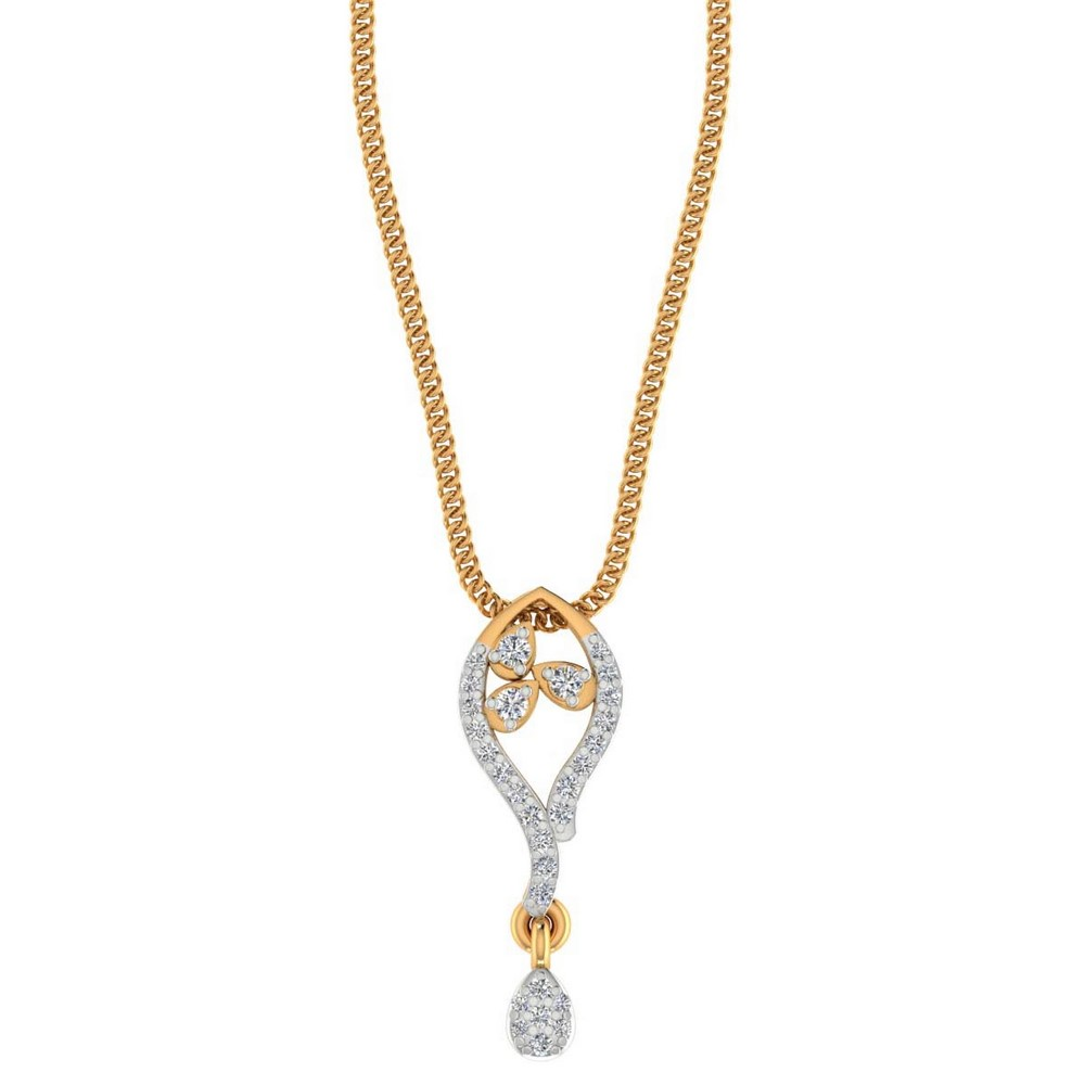 0.19CTS Certified Diamond Pendant For Weeding