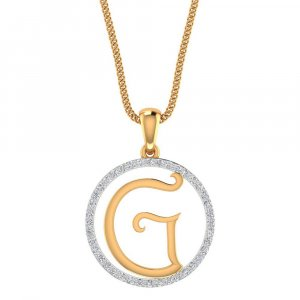 14k Yellow Gold Pendant In G Shape