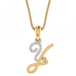 Hallmark Pendant In 14K Yellow Gold With Certified Diamond