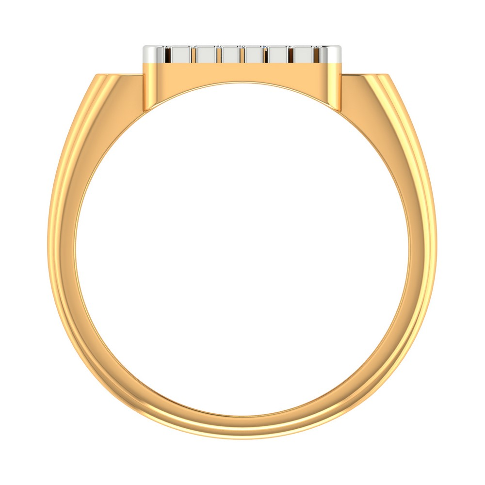 14K Yelllow Gold Ring With Certified Diamonds From In Swastik Shape