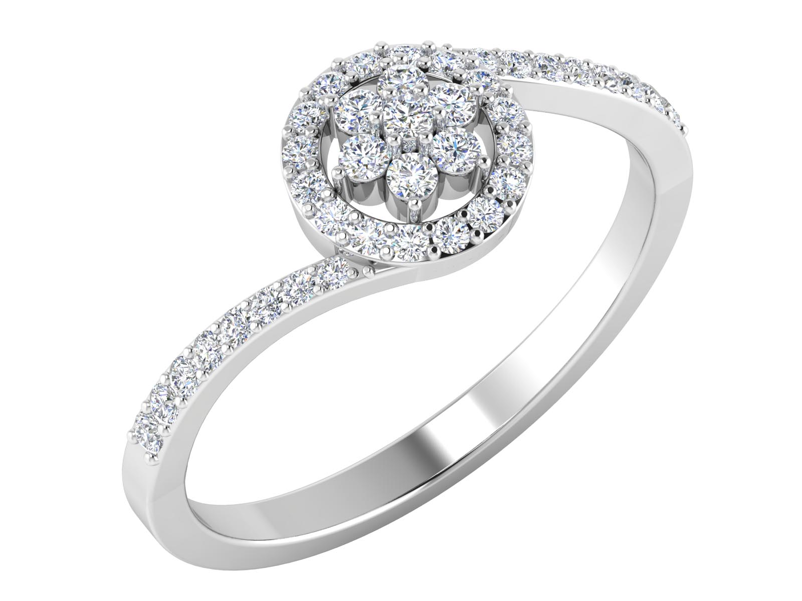 0.42 Cts Yellow Gold Certified Diamond Ring