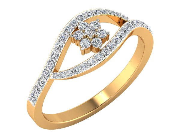 0.49 Cts Gold Diamond Ring