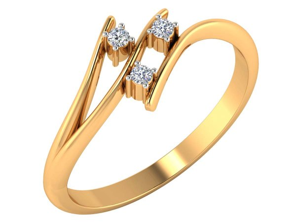 0.08 Cts Gold Diamond Ring