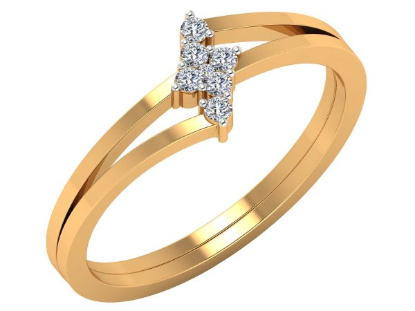 0.12 Cts Gold Diamond ring