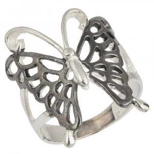 Antique Design Handmade Oxidized Silver Butterfly Ring Women gift Jewelry