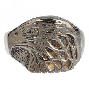 Jewels Of Jaipur Oxidized Silver Designer Eagle Ring Party Wear Fashion Jewelry