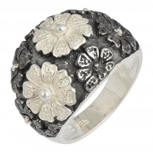 New Fashion Tribal Oxidized Silver Women's Fashion Ring Handmade Jewelry