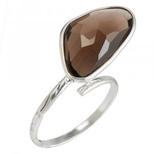 New Arrivals Traditional Silver Handmade Party Wear Smoky Ring For Girls