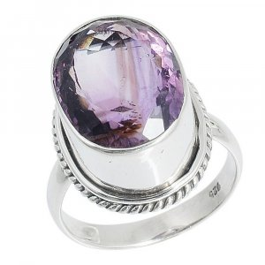 New Arrivals Silver Amethyst Stone Designer Ring Women Gift Antique Jewelry