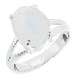 New Fashion New Fashion Moon Stone Silver Adorable Ring Womens Gift Jewelry