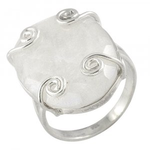 Pretty Gift Natural Moonstone Gemstone Silver Ring Party Wear Fashion Jewelry