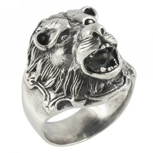 Traditional Handmade Tribal Oxidized Silver Lion Ring Antique Fashion Jewelry
