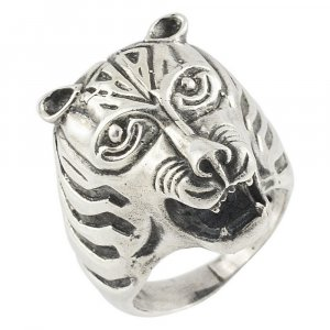 New Fashion Traditional Oxidize Silver Designer Animal Theme Lion Ring Jewelry