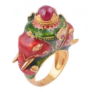 Traditional Jewels Of Jaipur Tribal Silver Ruby Gemstone Ring Fashion Jewelry