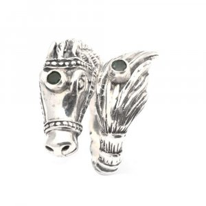 Handmade Tribal Oxidized Silver Antique Seahorse Design Bypass Ring Gift Jewelry