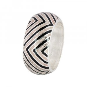 Traditional Oxidized Silver Handmade Casual Wear Nice Band Ring Fashion Jewelry