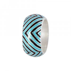 Traditional Jaipur Jewelry Handcrafted Silver Oxidized Band Ring Gift For Womens