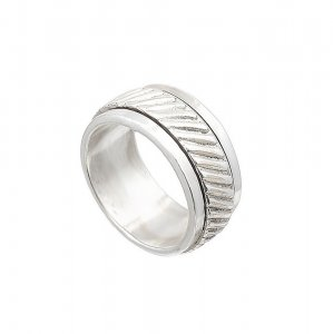 New Collection Handmade Silver Oxidized Beautiful Women Band Ring For Her