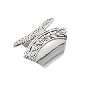 Jewels Of Jaipur Handmade Antique Designer Silver Band Ring Gift Fashion Jewelry